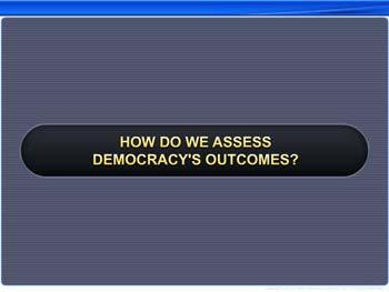 Animated video Lecture for How Do We Assess Democracy's Outcomes?