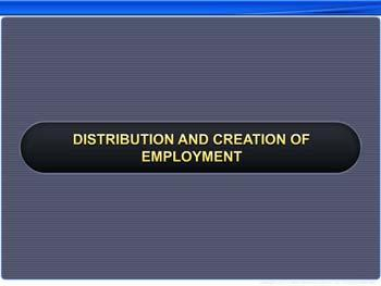 Animated video Lecture for Distribution and creation of employment