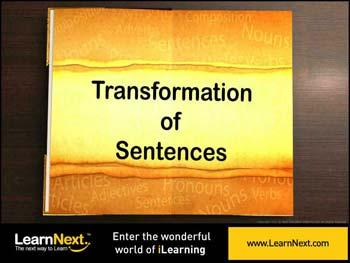 Animated video Lecture for Sentences - Types and Conversion From  Simple to Compound