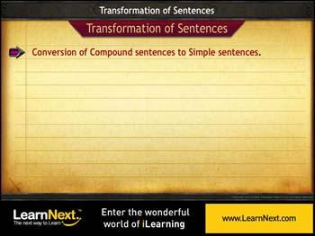 Animated video Lecture for Compound to Simple Sentences - Conversion