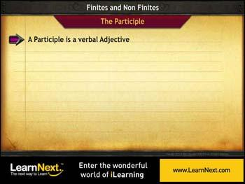 Animated video Lecture for Participles - Kinds and Usage