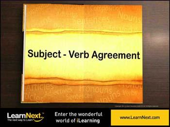 Animated video Lecture for Subject Verb Concord - Kinds and Rules