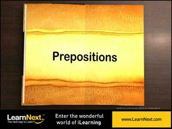 Animated video Lecture for Prepositions - Introduction and Usage