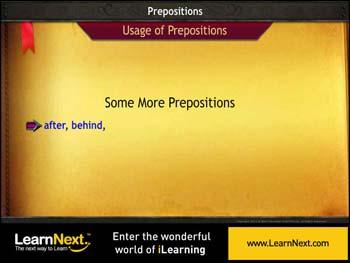 Animated video Lecture for More on Prepositions