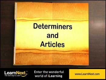 Animated video Lecture for Determiners - Introduction
