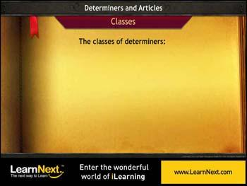 Animated video Lecture for Classes of Determiners - Demonstratives and Possessives