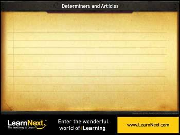 Animated video Lecture for More on Determiners