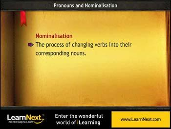 Animated video Lecture for Nominalisation