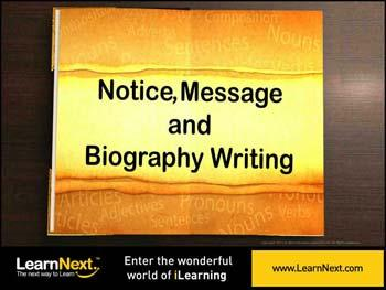 Animated video Lecture for Notice Writing - Format, Types and Sample