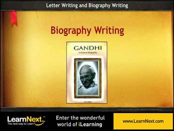 Animated video Lecture for Biography Writing - Sample