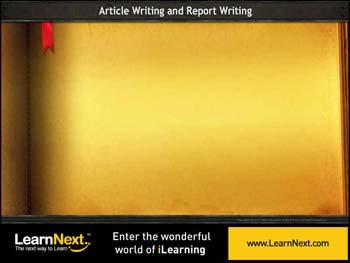 Animated video Lecture for Report Writing - Format and Sample