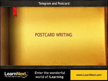 Animated video Lecture for Post Card Writing - Rules and Sample