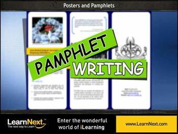 Animated video Lecture for Pamphlet Writing , Sample