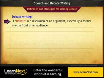 Animated video Lecture for Debate Writing - Strategies and Format