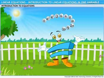 Animated video Lecture for Introduction to Linear Equations