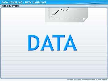Animated video Lecture for Data Handling