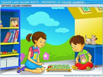 Animated video Lecture for Properties of Square Numbers