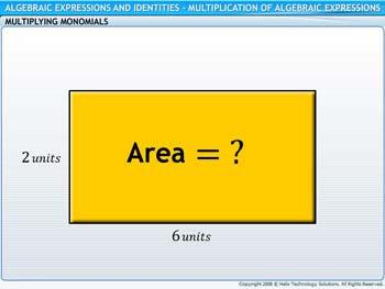 Animated video Lecture for Multiplication of Algebraic Expressions
