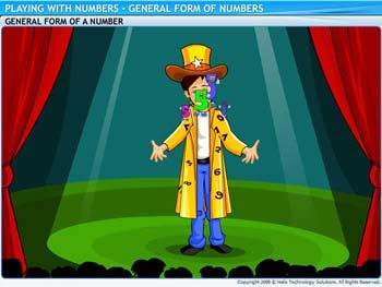 Animated video Lecture for General Form of Numbers