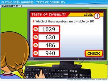 Animated video Lecture for Tests of Divisibility