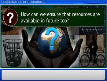 Animated video Lecture for Conservation of Resources