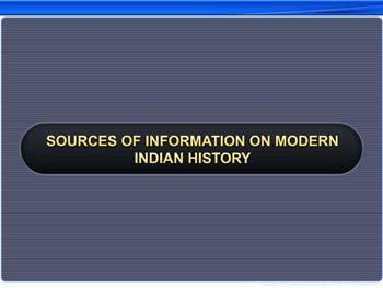 Animated video Lecture for Sources of Information on Modern Indian History