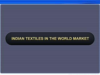 Animated video Lecture for Indian Textiles in the World Market