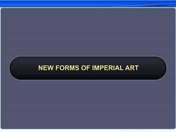 Animated video Lecture for New Forms of Imperial Art