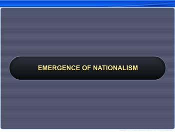 Animated video Lecture for Emergence of Nationalism