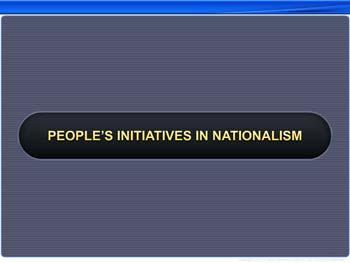 Animated video Lecture for People's Initiatives in Nationalism
