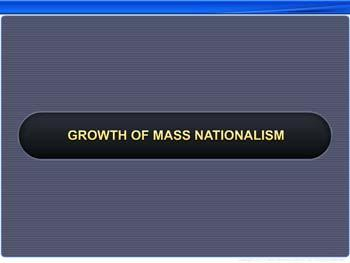 Animated video Lecture for Growth of Mass Nationalism