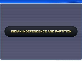 Animated video Lecture for Indian Independence and Partition