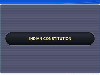 Animated video Lecture for Indian Constitution