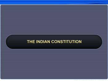 Animated video Lecture for The Indian Constitution