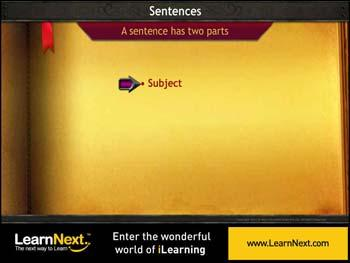 Animated video Lecture for Parts of a Sentence