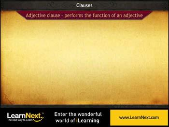 Animated video Lecture for Adjective Clauses