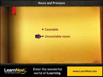 Animated video Lecture for Countable and Uncountable Nouns