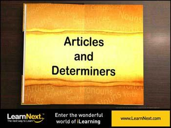 Animated video Lecture for Revisiting Articles and Determiners