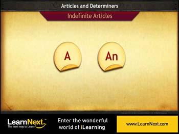 Animated video Lecture for Indefinite Articles - Usage and Collocations