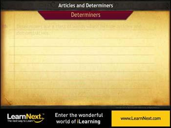 Animated video Lecture for Determiners