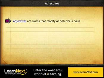 Animated video Lecture for Order of Adjectives
