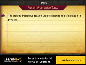 Animated video Lecture for Present Progressive Tense