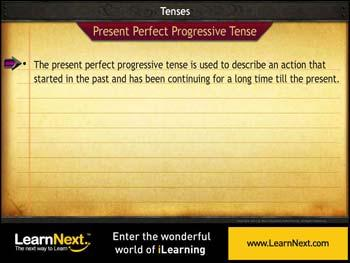 Animated video Lecture for Present Perfect Progressive Tense