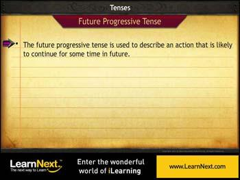 Animated video Lecture for Future Progressive Tense