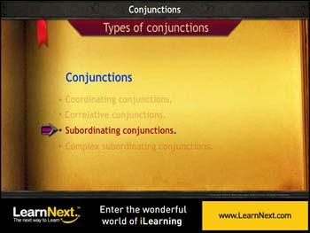 Animated video Lecture for Subordinating Conjunctions