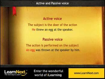 Animated video Lecture for Active and Passive Voice - Rules