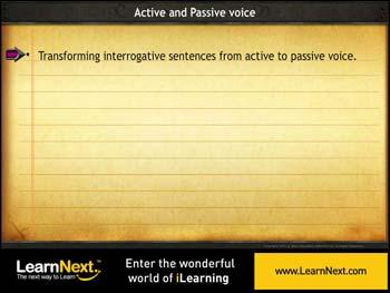Animated video Lecture for Transforming Interrogative Sentences - Passive Voice