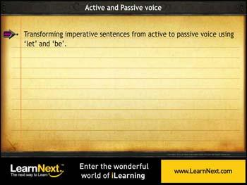 Animated video Lecture for Transforming Imperative Sentences - Passive Voice