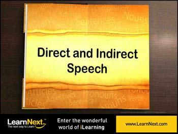 Animated video Lecture for Change in Pronouns - Indirect Speech