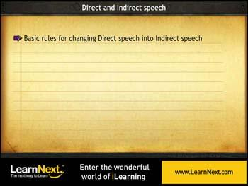 Animated video Lecture for Basic Rules - Direct to Indirect
